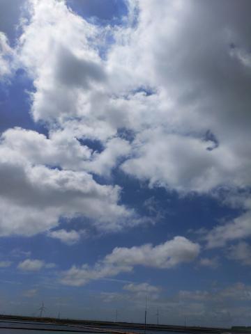 久违了,蓝天,白云