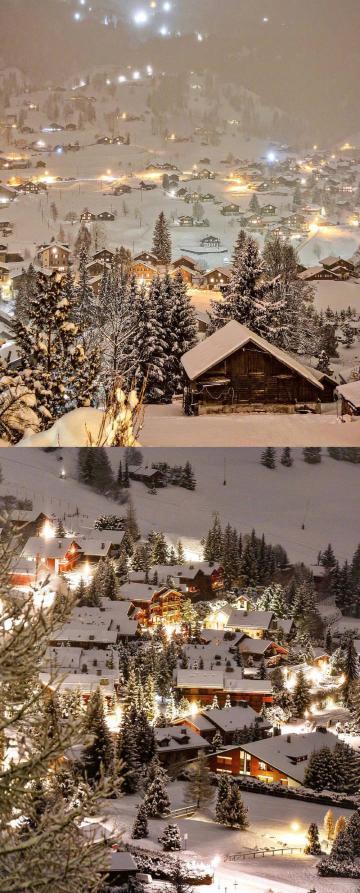 这是瑞士的雪,很美,有一天,一定要亲自去看。