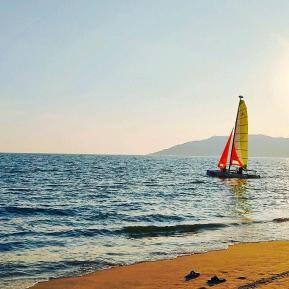 下海去冲浪