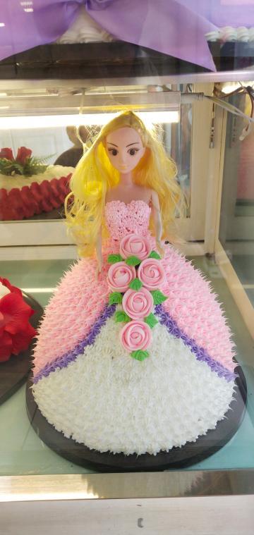 芭比公主娃娃生日蛋糕模型塑胶生日蛋糕模型