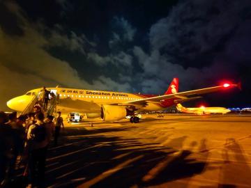 三亚机场夜景