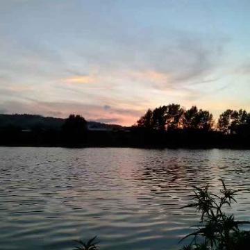 夕阳下的牡丹江